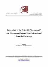 Proceedings of the Scientific Management and Management Science Today International Scientific Conference